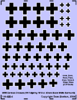 German Straight Crosses (Thick Black With Narrow White Outline)