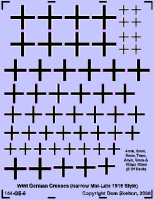 German Straight Crosses (Very Narrow Style)