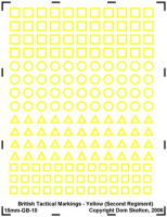 British Tactical Markings - Yellow (Second Regiment)