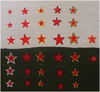 1/600 Red Stars With White Border