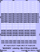 1/600 MARINES Lettering (50/50 Black & White)