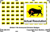 11th Armoured Division Vehicle Badges