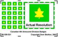 4th Canadian Armoured Division Vehicle Badges