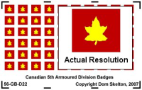5th Canadian Armoured Division Vehicle Badges